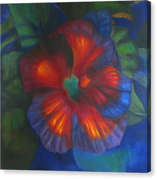 Hibiscus Canvas Print by Susan Hanlon