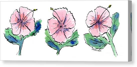 Hibiscus Trio Canvas Print