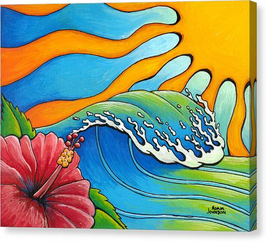 Hibiscus Wave Canvas Print
