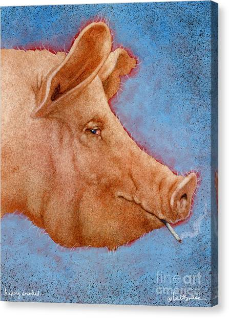 Ham Canvas Print - Hickory Smoked... by Will Bullas