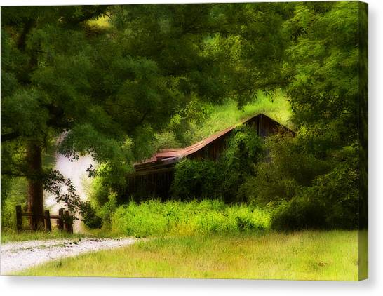 Hidden Down The Road Canvas Print