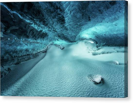 Ice Caves Canvas Print - Hidden Frozen World by Javier De La