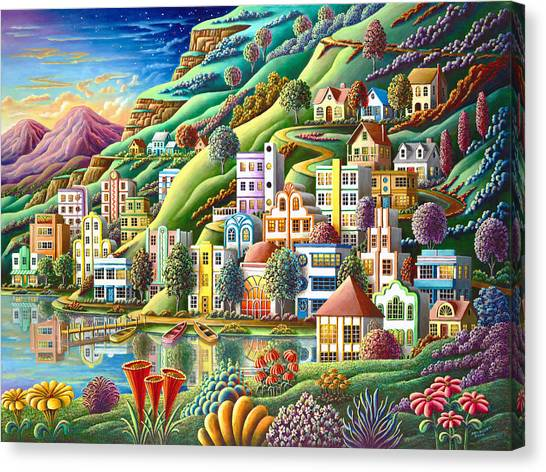Imaginative Canvas Print - Hidden Harbor by Andy Russell
