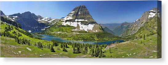 Hidden Lake In Glacier National Park Canvas Print