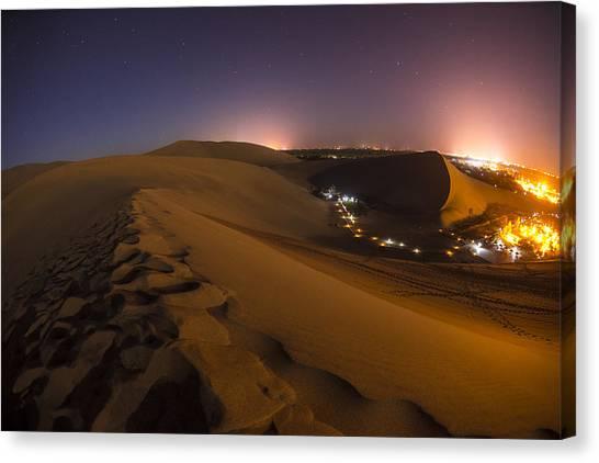 Gobi Desert Canvas Print - Hidden Oasis by Aaron Bedell