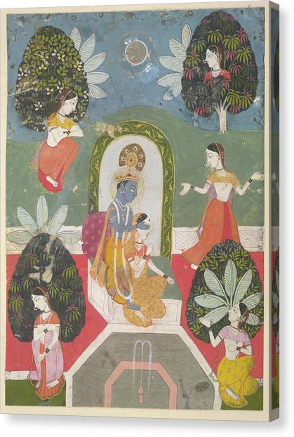 Hinduism Canvas Print - Hide-and-seek by British Library