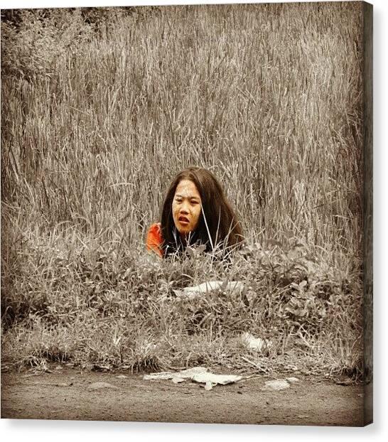 Innocent Canvas Print - Hide And Seek Cc: @nisasajdah #hide by Baihaqi Siagian