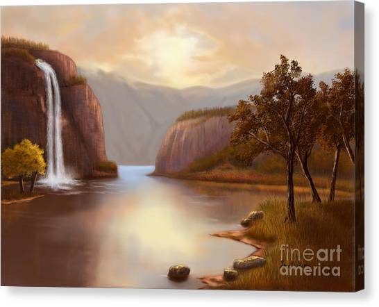 Hideaway In The Mountains Canvas Print