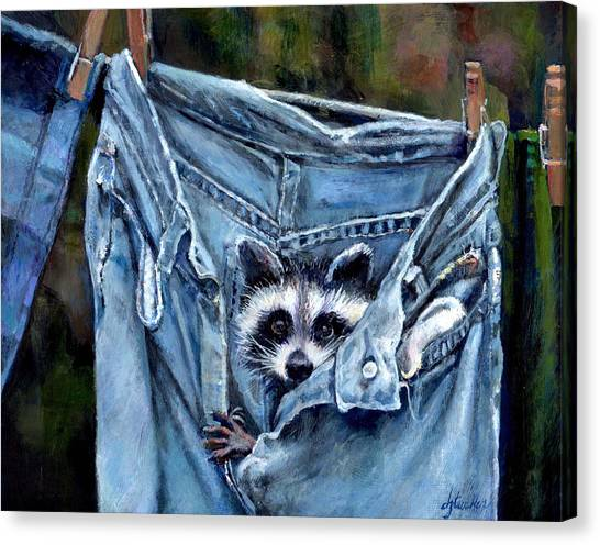 Hiding In My Jeans Canvas Print
