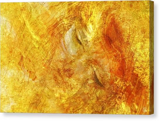 Hiding In Yellow Canvas Print by Gun Legler
