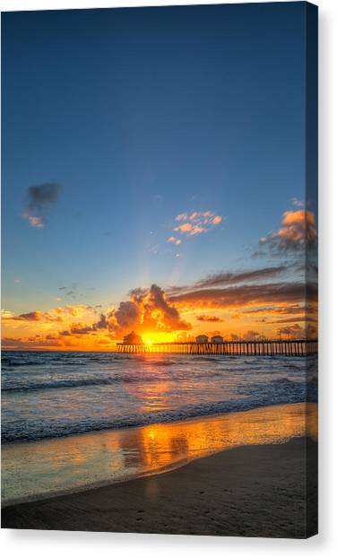 Hiding Sunset Canvas Print
