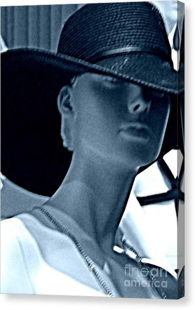 Hiding Under Hats? Canvas Print