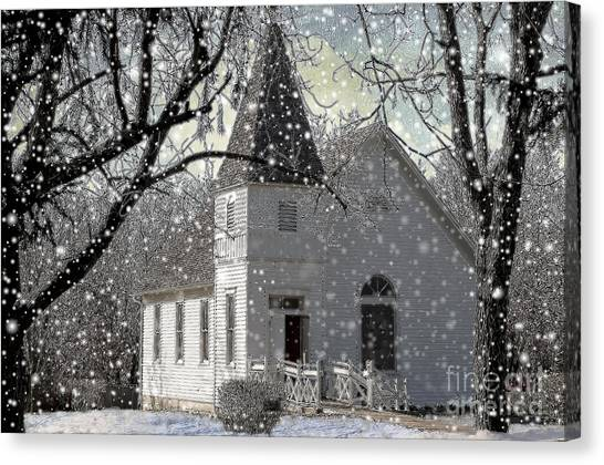 Higgensville Church Canvas Print