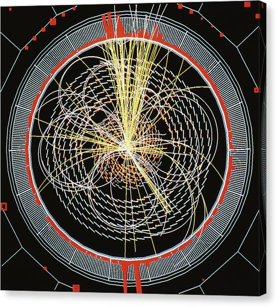 Higgs Boson Decay Model Canvas Print by Cern/science Photo Library