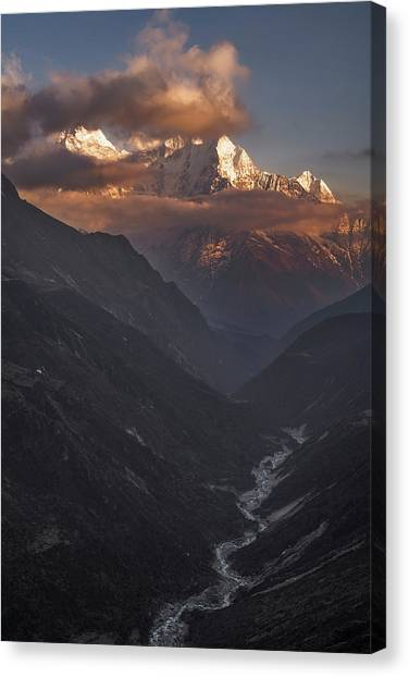 Mountain Sunsets Canvas Print - High Above by Karsten Wrobel