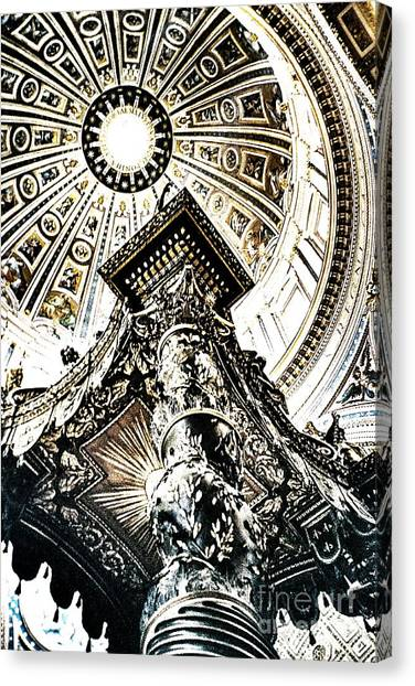 High Altar And Dome Canvas Print by Kim Lessel