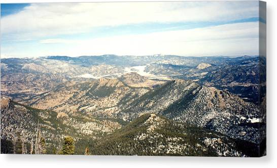 High Altitude View Canvas Print