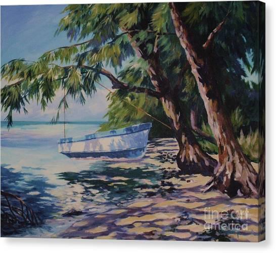 John Boats Canvas Print - High And Dry by John Clark