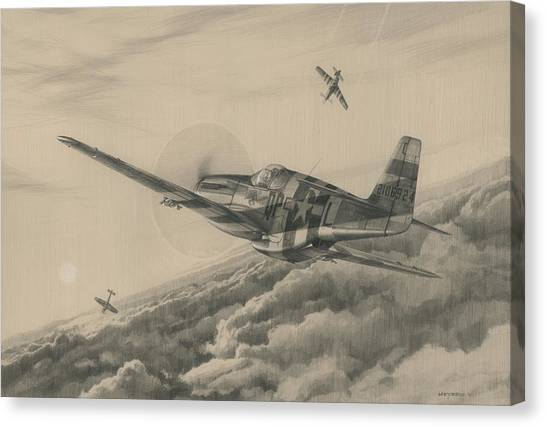 Luftwaffe Canvas Print - High-angle Snapshot by Wade Meyers