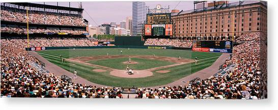 Orioles Canvas Print - High Angle View Of A Baseball Field by Panoramic Images