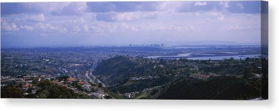 Mission San Diego Canvas Print - High Angle View Of A Bridge, Coronado by Panoramic Images