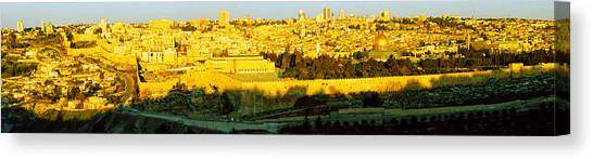 Israeli Canvas Print - High Angle View Of A City, Jerusalem by Panoramic Images