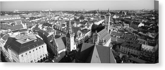 House Of Worship Canvas Print - High Angle View Of A City, Munich by Panoramic Images