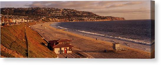Lifeguard Canvas Print - High Angle View Of A Coastline, Redondo by Panoramic Images