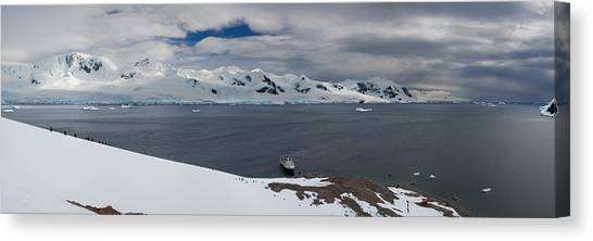 Glacier Bay Canvas Print - High Angle View Of A Harbor, Neko by Panoramic Images