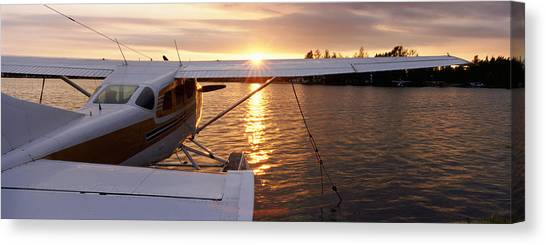 Pontoon Canvas Print - High Angle View Of A Sea Plane, Lake by Panoramic Images