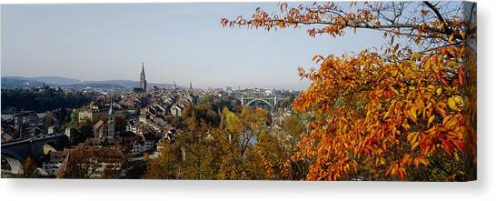 House Of Worship Canvas Print - High Angle View Of Buildings, Berne by Panoramic Images