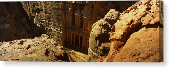 Jordan Canvas Print - High Angle View Of The Treasury, Wadi by Panoramic Images