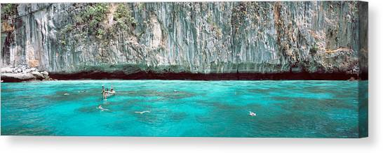 Phi Phi Island Canvas Print - High Angle View Of Three People by Panoramic Images