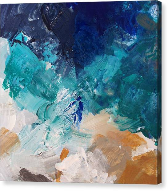 Iphone Case Canvas Print - High As A Mountain- Contemporary Abstract Painting by Linda Woods