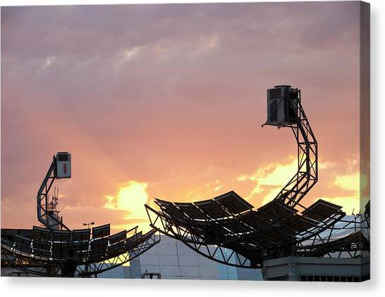 Clean Energy Canvas Print - High Concentration Photo Voltaic Panels by Ashley Cooper