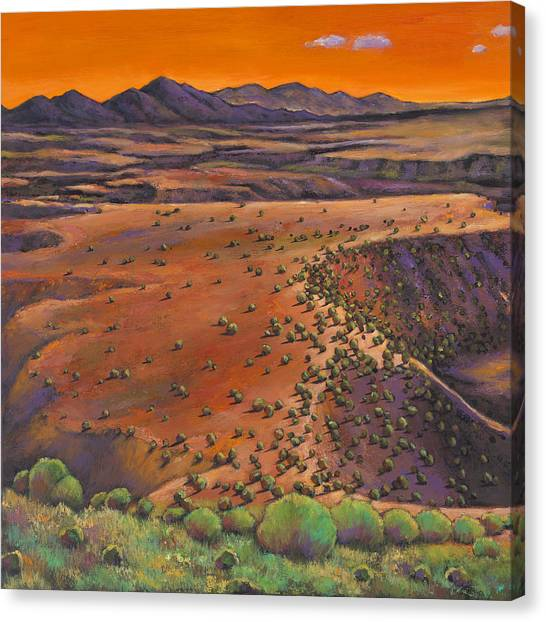 Rio Grande Canvas Print - High Desert Evening by Johnathan Harris