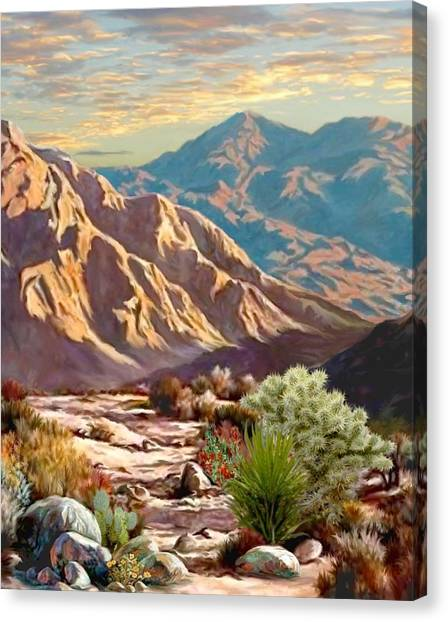 High Desert Wash Portrait Canvas Print