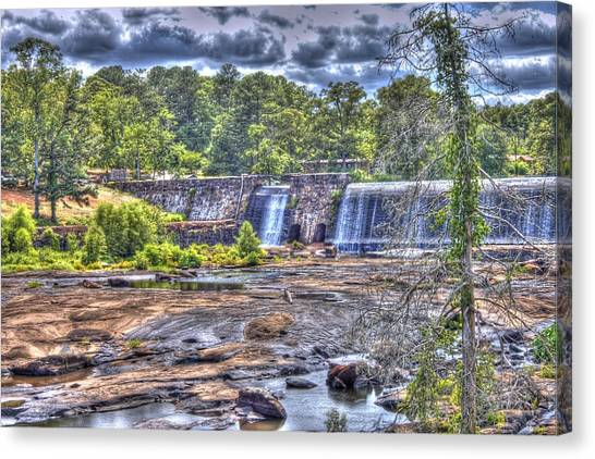 High Falls Dam Canvas Print