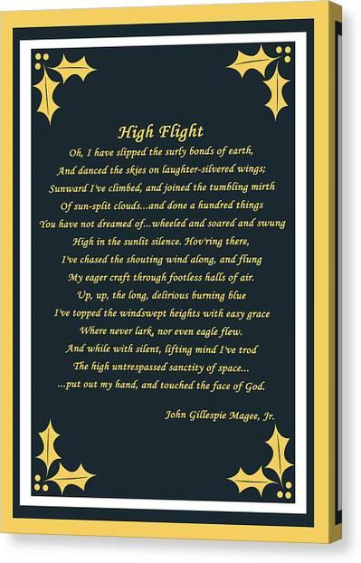 High Flight Canvas Print