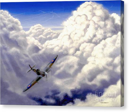 Artist Michael Swanson Canvas Print - High Flight by Michael Swanson