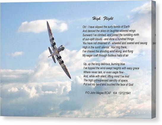 Aircraft Canvas Print - High Flight by Pat Speirs