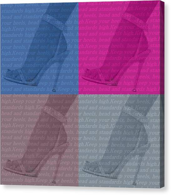 Jimmy Choo Canvas Print - High Heels  by Dan Sproul