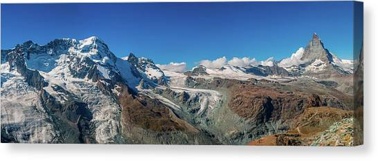 High Mountains Of Pennine Alps In Canvas Print