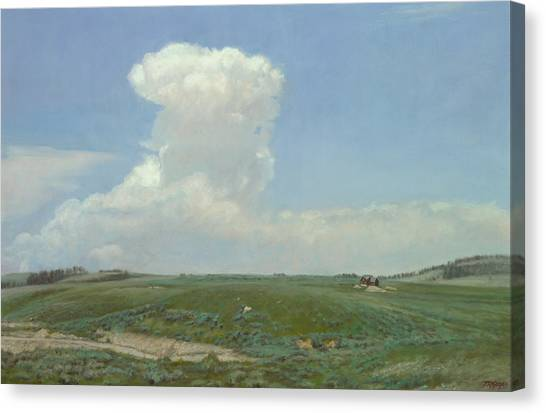 High Plains Big Sky Canvas Print by Terry Guyer