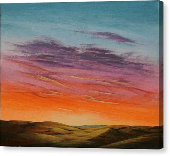 High Plains Sunset Canvas Print by J W Kelly