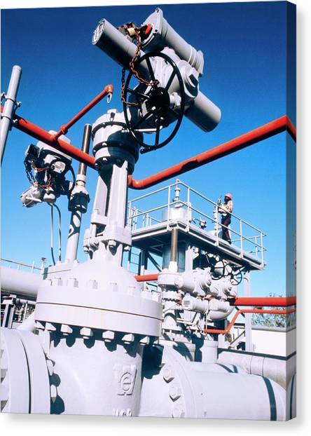 Bayous Canvas Print - High-pressure Pump At Bayou Choctaw Site by Us Department Of Energy/science Photo Library