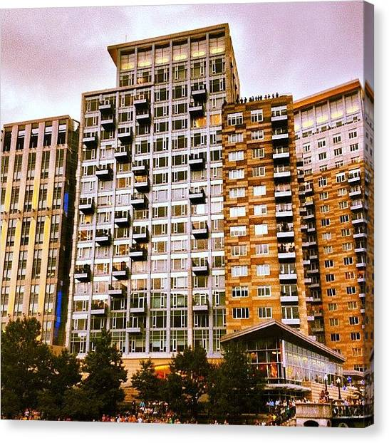 Rhode Island Canvas Print - High Rise Living In Providence by Jason Fourquet