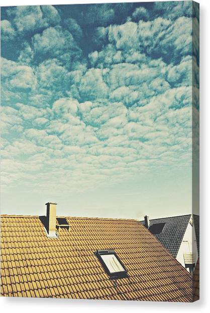 High Section Of Roof Tiles Canvas Print by Thomas M. Scheer / Eyeem