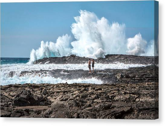 In Over Their Heads Canvas Print
