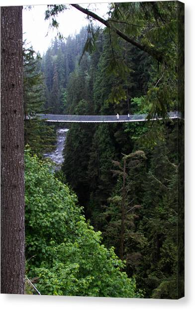 High Swinging Bridge Canvas Print by Qing